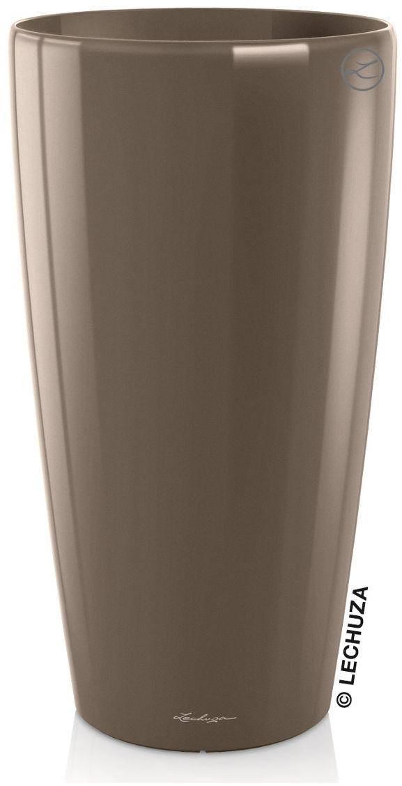 Donica Lechuza RONDO 40/75 taupe-szarobrązowy połysk