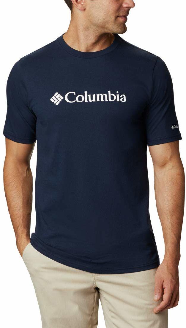 Columbia Męska Csc Basic Logo z krótkim rękawem CSC Basic Logo Koszulka z krótkim rękawem Collegiate Navy, White L