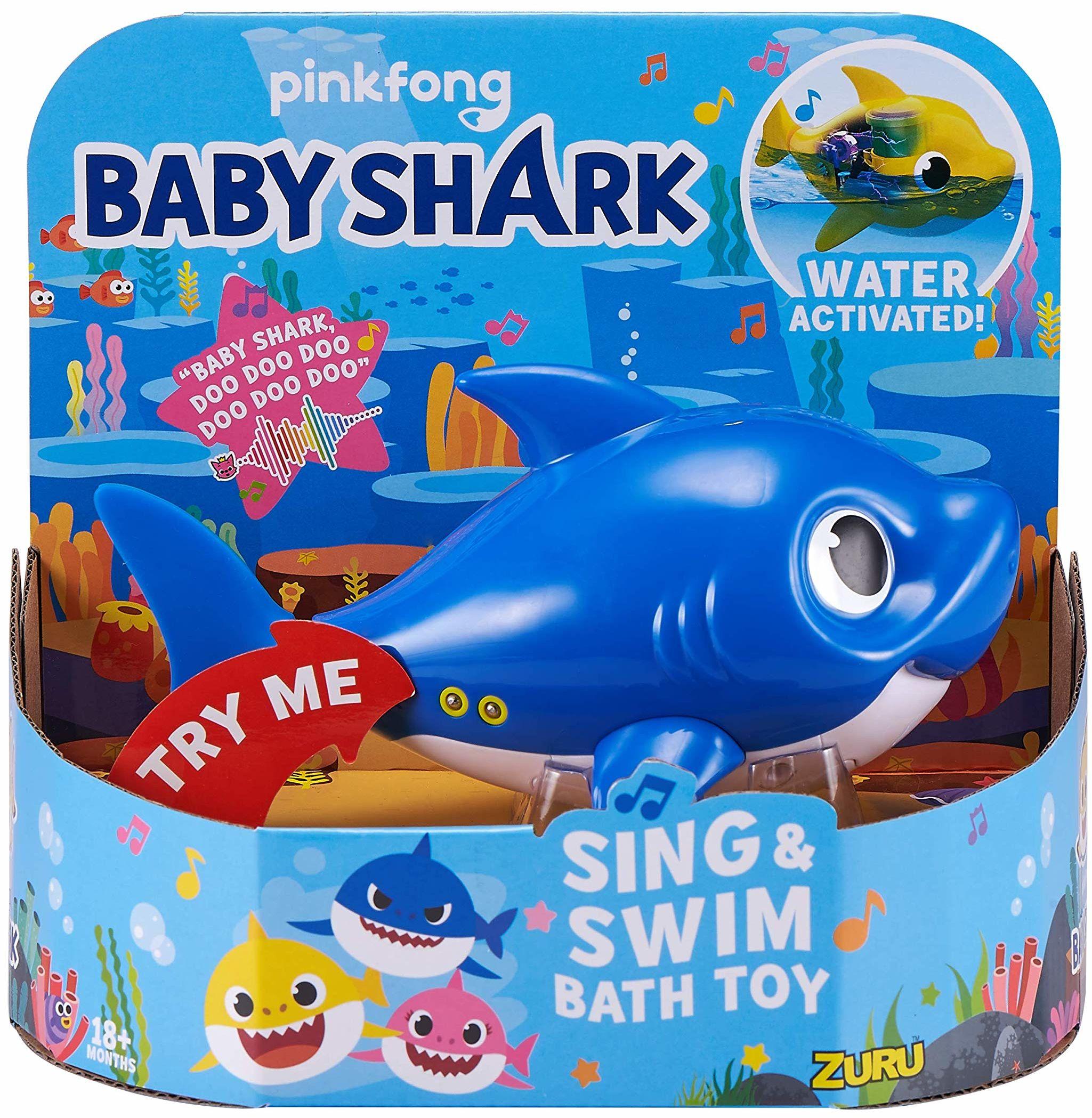 ZURU ROBO ALIVE JUNIOR 25282B zabawka do kąpieli, śpiewający i pływacki tatusia rekin