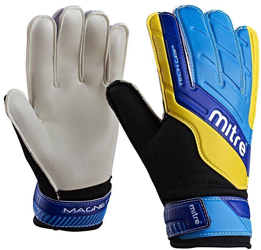 Mitre rękawice bramkarskie Magnetite Junior, niebieskie/turkusowe/żółte, 4, G70009BCY
