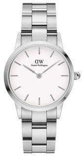 DANIEL WELLINGTON ICONIC SILVER WHITE DW00100207-DARMOWA DOSTAWA-GWARANCJA-VICTORYTIME.PL