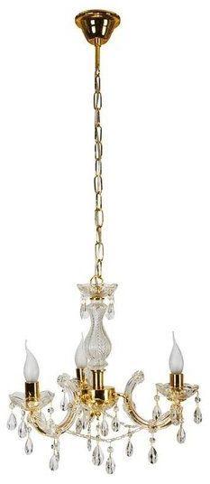 Lampa wisząca elegancki kryształowy żyrandol MARIA TERESA III złoty śr. 48cm - 3