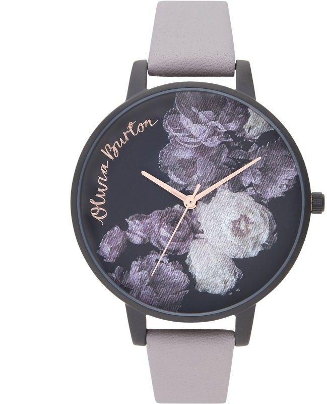 Zegarek damski Olivia Burton Grey Lilac Rose Gold & Matte Black OB16AD11