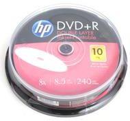 HP DVD+R 8.5GB x8 WHITE FF InkJet Printable cake 10
