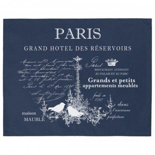 Serwety Paris granatowe 2 szt.