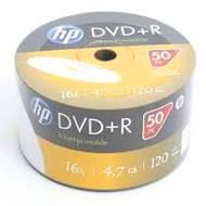 HP DVD+R 4.7GB x16 WHITE FF InkJet Printable White spindel 50