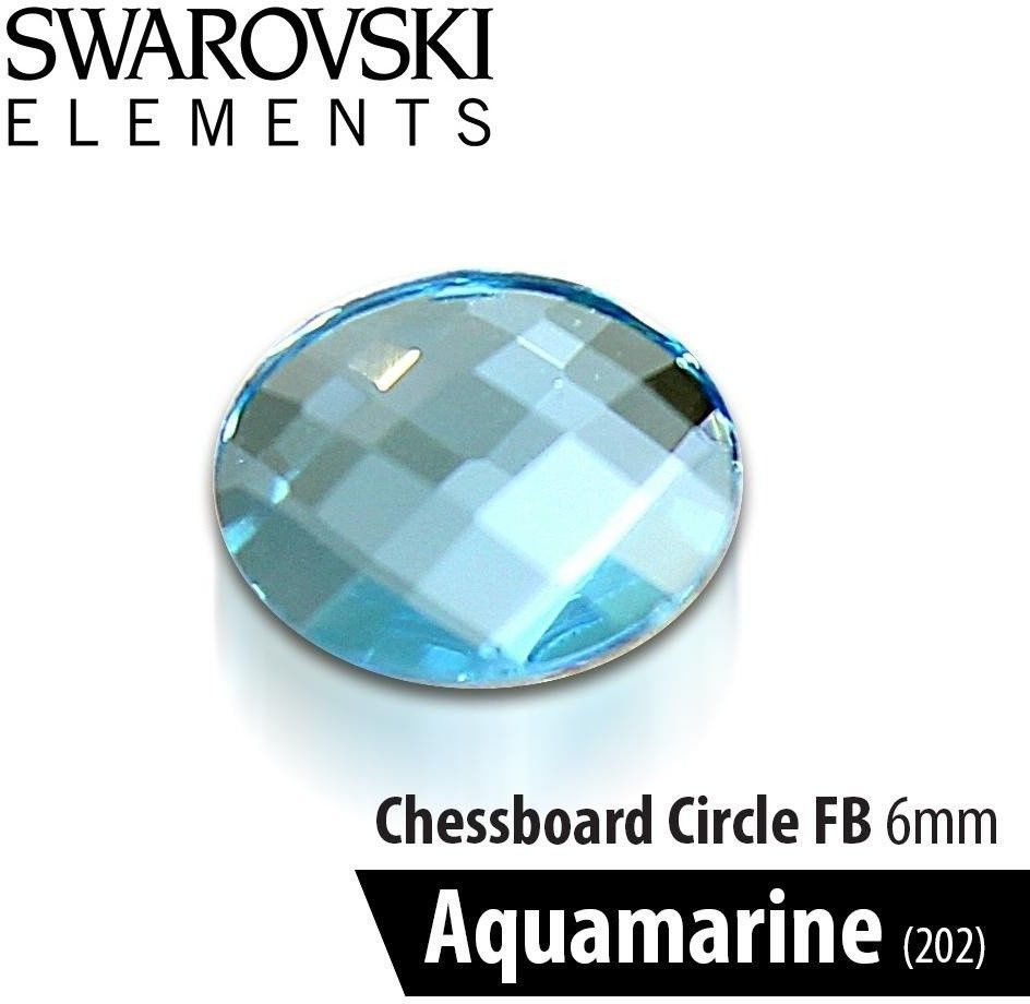 Swarovski Szachownica - Aquamarine 6mm 1szt.