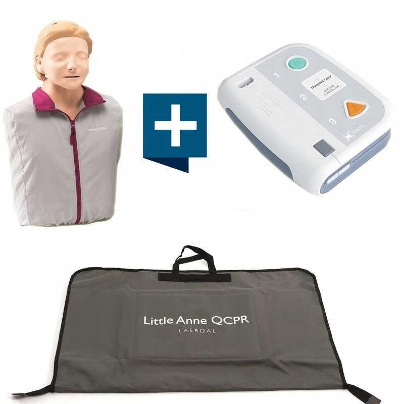 Little Anne QCPR z defibrylatorem