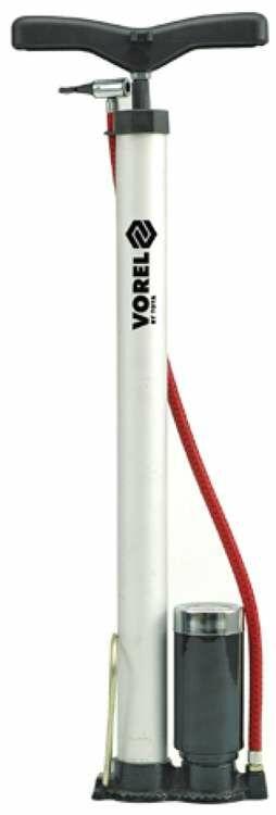 Pompka słupkowa, aluminiowa z manometrem Vorel 82021 - ZYSKAJ RABAT 30 ZŁ