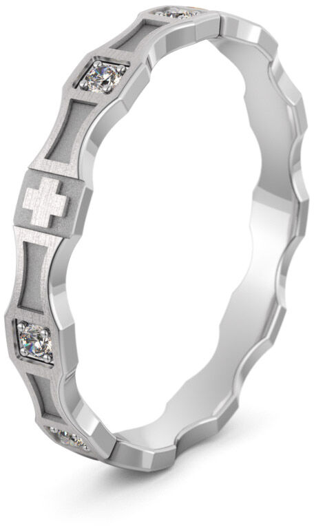 Pierścionek srebrny różaniec - Ag-574