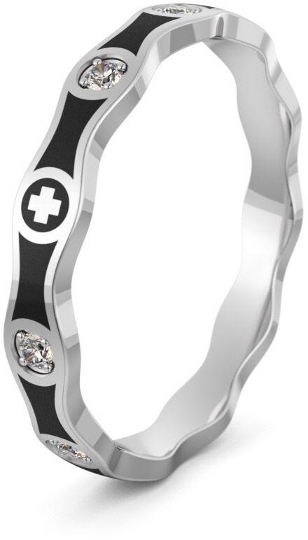 Pierścionek srebrny różaniec - Ag-496