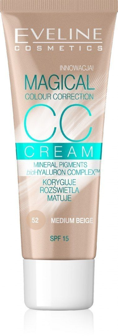 Eveline Eveline Fluid Magical CC Cream nr 52 Średni Beż 30ml