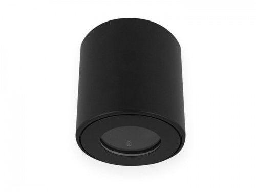 Oprawa sufitowa natynkowa okrągła wodoodporna GU10 230V- czarna matowa