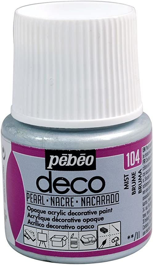 Pébéo 285104 farba akrylowa, matowa, 45 ml, mgiełka z masy perłowej, 1 butelka