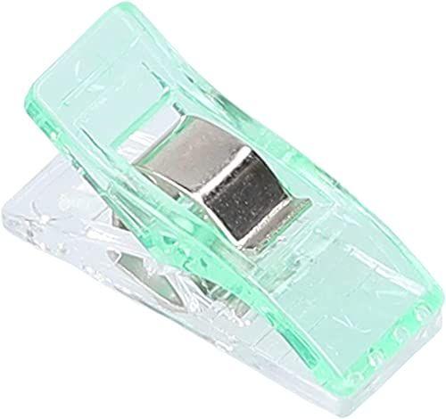 mumbi 30692 klamerki do materiału, tworzywo sztuczne, zielone, 10 sztuk