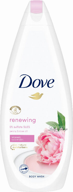 Dove - Renewing Body Wash - Żel pod prysznic - Peonia & Olejek Różany - 750 ml