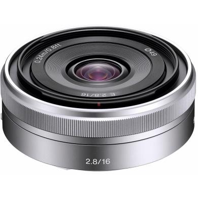 Sony E 16mm F2.8 - obiektyw stałoogniskowy, SEL16F28 Sony E 16 mm F2.8 SEL16F28 - obiektyw