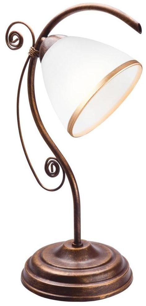 Lampka biurkowa Retro brąz E27 Lamkur