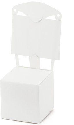 Pudełeczka dla gości krzesełka z winietką białe 10 sztuk PUDP7
