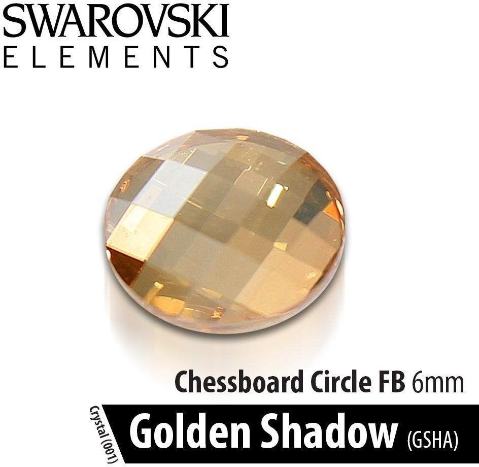 Swarovski Szachownica - Crystal Gold Shadow 6mm 1szt.