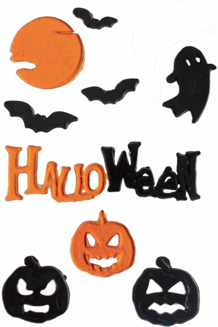 Naklejki na szybę Halloween - 1 komplet