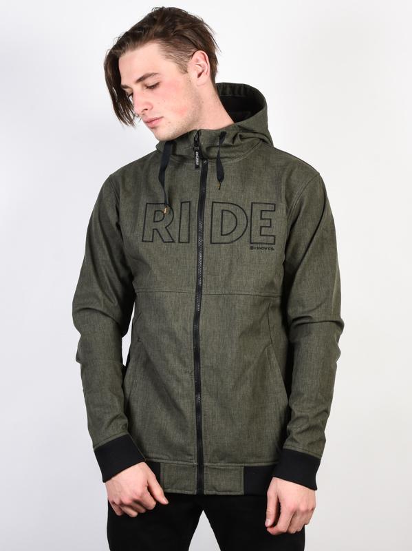 Ride Pike 10/5 BLACK OLIVE MELANGE wiosna mężczyzna kurtka - S