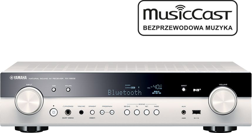 MusicCast RX-S602 biały  SALONY FIRMOWE W 12 MIASTACH  25 LAT NA RYNKU  DOSTAWA 0 zł  ODBIÓR OSOBISTY