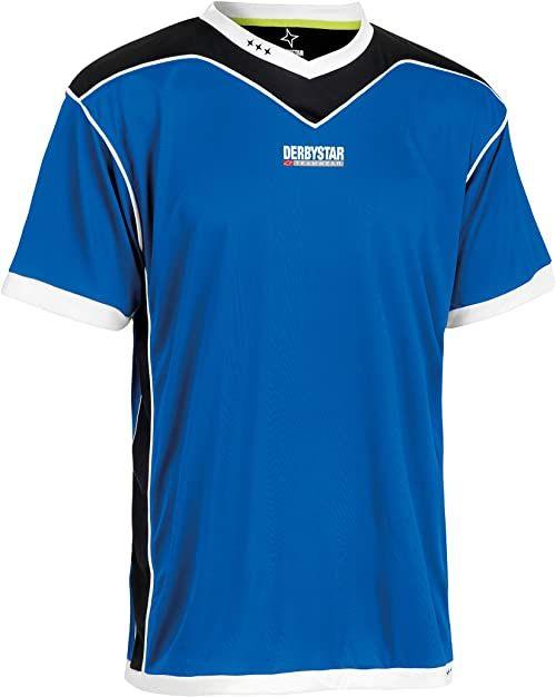 Derbystar Koszulka Brillant krótka, 140/152, niebieska czarna, 6000152620