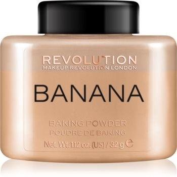 Makeup Revolution Baking Powder puder sypki odcień Banana 32 g