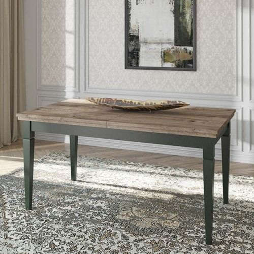 Evora 92 stół rozkładany 160-240x90 - zielony/dąb lefkas