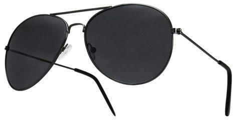 Okulary Aviatory Pilotki przeciwsłoneczne extra czarne