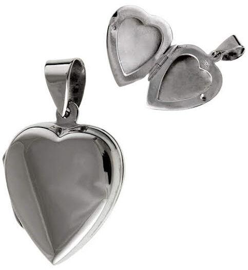 Srebrna otwierana zawieszka duże serce puzderko srebro 925 W0282
