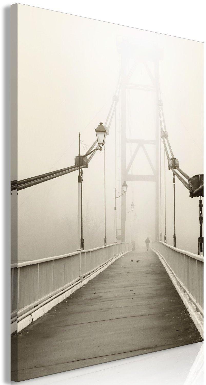 Obraz - most we mgle (1-częściowy) pionowy