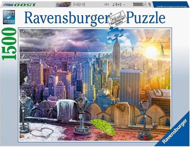 Puzzle 1500 Nowy Jork w lecie i zimie - Ravensburger