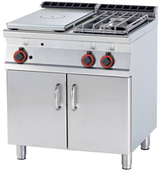 Kuchnia żeliwna gazowa z szafką 20000W 800x700x(H)900mm