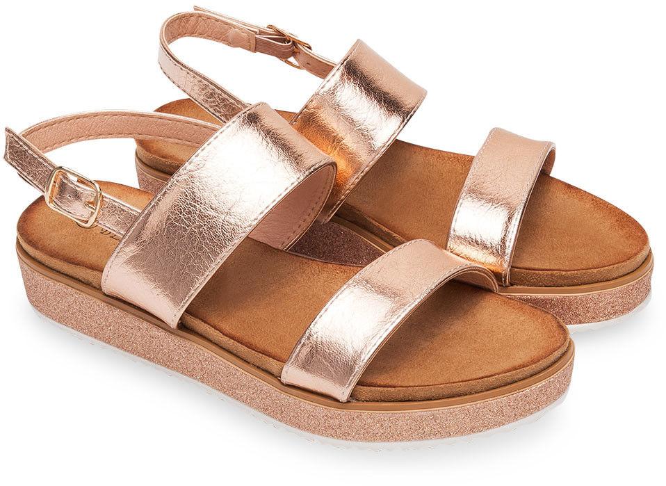 Sandały damskie Bestelle 100-888SA-1 Szampan