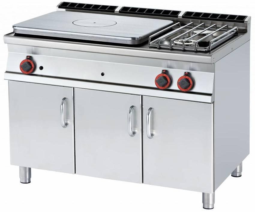 Kuchnia żeliwna gazowa z szafką 25000W 1200x700x(H)900mm