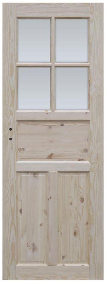 Skrzydło drzwiowe drewniane łazienkowe Londyn Lux 90 Prawe Radex