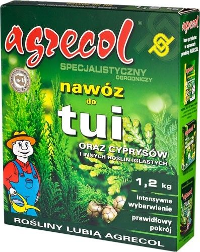 Nawóz do tui i cyprysów Agrecol 1,2 kg
