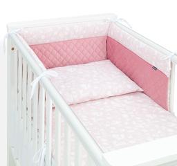 MAMO-TATO 3-el pościel do łóżeczka 60x120 LUX Velvet PIK - Las pastelowy róż / różany