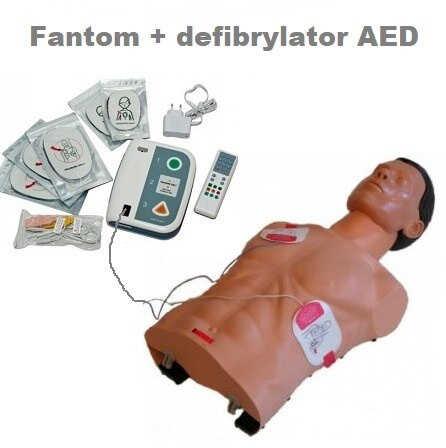Fantom AMBU SAM z defibrylatorem
