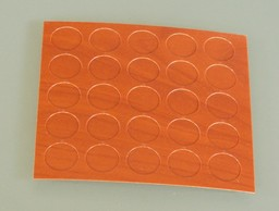 zaślepki naklejane do konfirmatów 25szt kolor jasny klon