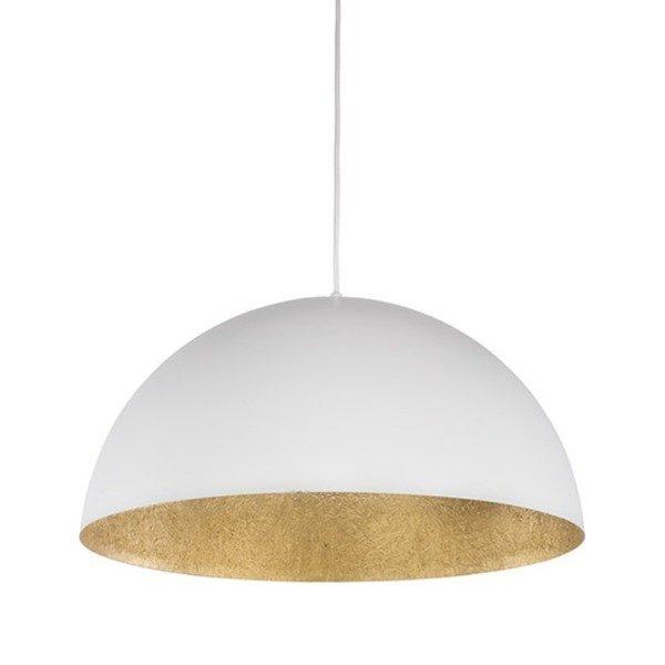 Lampa wisząca SFERA biało - złota 50cm