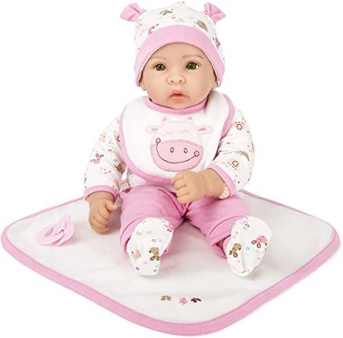small foot 11237 lalka Hanna z wyciąganą odzieżą, smoczkiem i miękkim kocem do przytulania zabawek, Hannah