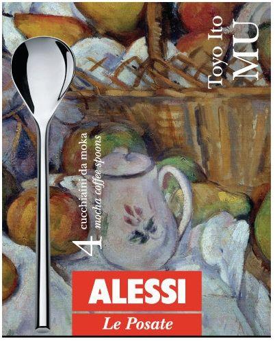 Alessi MU Łyżeczki do Kawy Espresso Mokki 4 Szt.