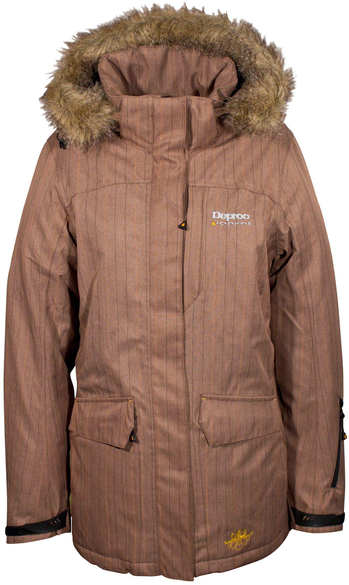 Deproc Active damska kurtka funkcyjna parka brązowy brązowy 42