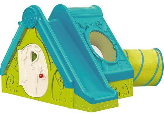Domek ze zjeżdżalnią dla dzieci