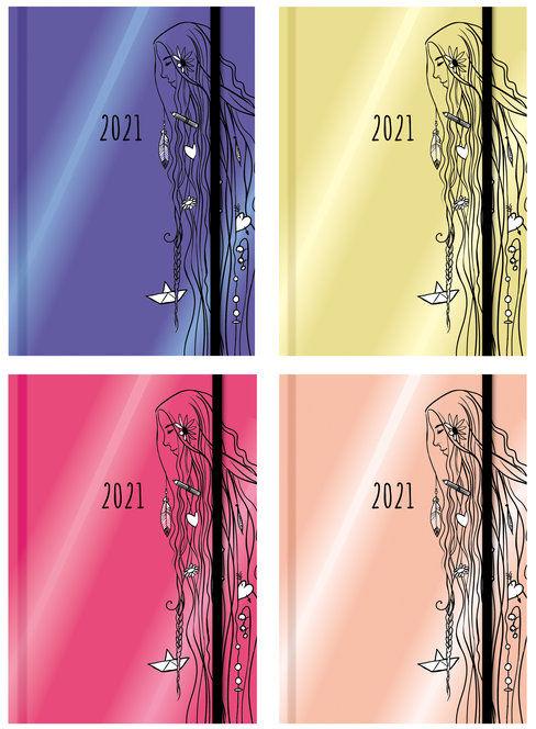 Terminarz wyjątkowej dziewczyny 2021 mix kolorów ZAKŁADKA DO KSIĄŻEK GRATIS DO KAŻDEGO ZAMÓWIENIA