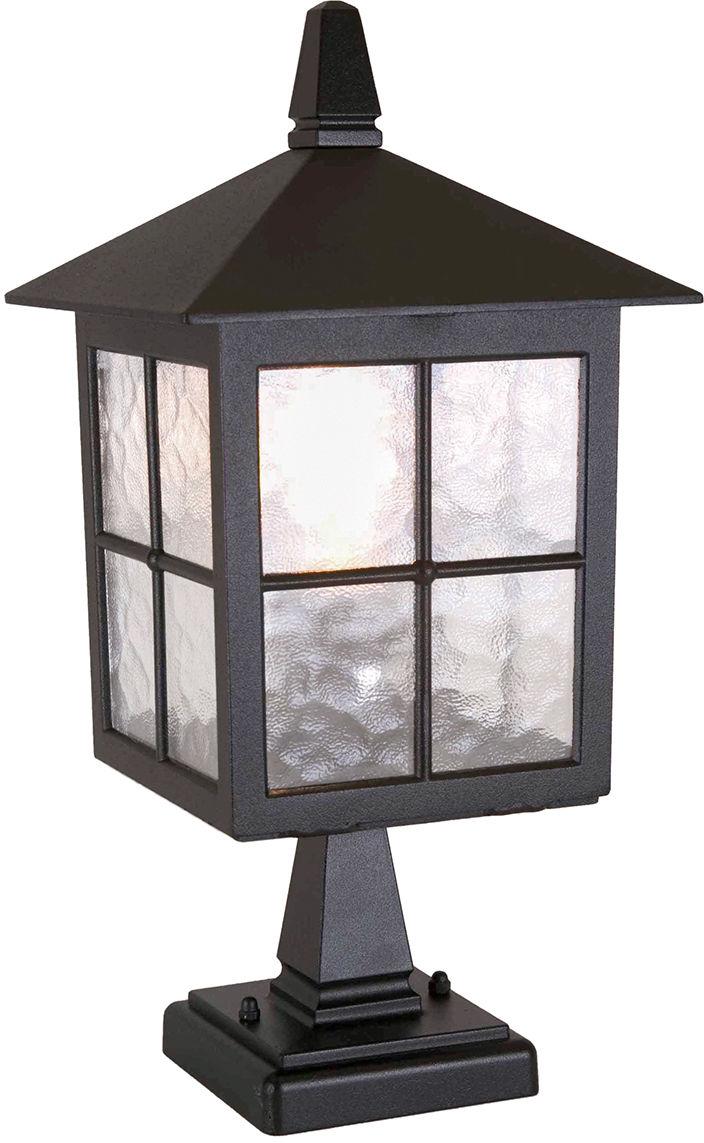 Lampa zewnętrzna stojąca Winchester BL25 Elstead Lighting czarna oprawa w klasycznym stylu