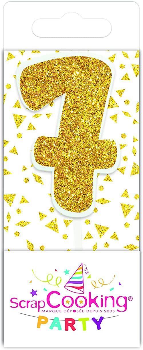 Scrapcooking 0597 mini świeca, kolor złoty